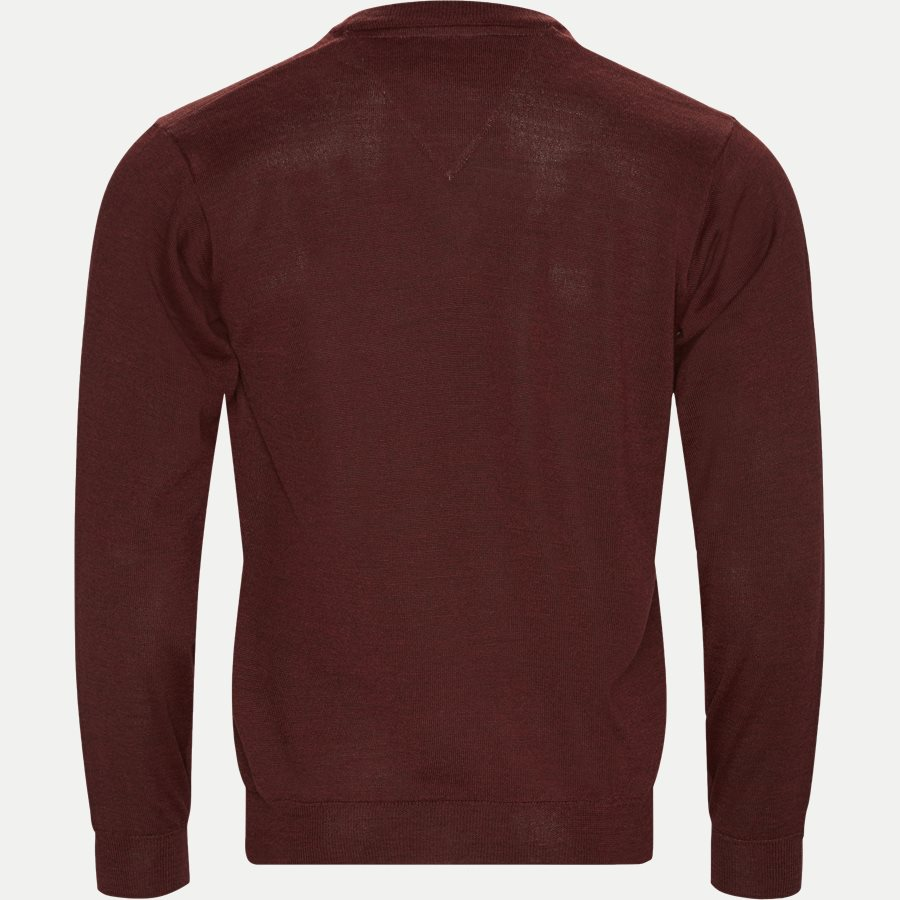 SMARALDA - Smaralda V-Neck Striktrøje - Strik - Regular - BORDEAUX MEL - 2